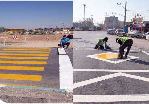 پروژه رنگ آمیزی ترافیکی شهری