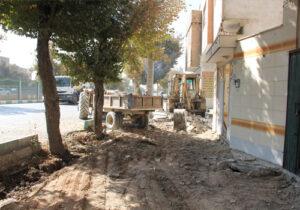 پیاده رو سازی و ساماندهی انهار خیابان مطهری